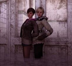 Moira Burton with Sherry Birkin